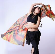 New Belly Dance Costume Gradient Color Silk Shawl Veil 240*120cm 8 colours