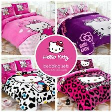 Kids Hello Kitty Bedding Duvet Quilt Cover Bedding Set Twin Queen Cotton Pink