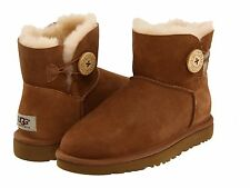 Women's Shoes UGG Australia Mini Bailey Button Boots 3352 Chestnut *New*