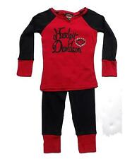 Harley Davidson Girls PJ's, Sleepwear, Pajamas, Red & Black, Sizes 4, 6X, 8 & 10