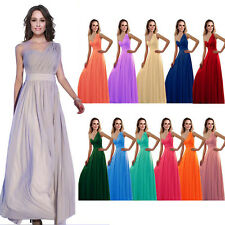 1 Wedding Bridesmaid Model Party Elegant Evening One-shoulder Prom Gown Dress