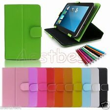 """Carry Leather Case Cover/Pen For 7"""" Mach Speed Trio Stealth G4/G2 4G Tablet WN2"""