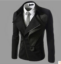 HOT!NEW Men's fashion casual jacket / coat Slim(Black)