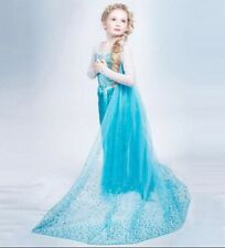 NEW! FROZEN ELSA ANNA PRINCESS DRESS KIDS COSTUME PARTY FANCY SNOW QUEEN