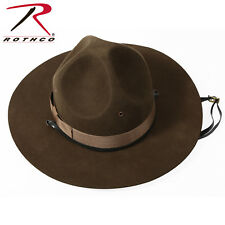 Military Style SMOKEY BEAR Trooper Brown Drill Sergeant Wool Felt Campaign Hat
