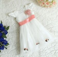 Baby Flower Girl Christening Communion Birthday Christmas Party Evening Dress