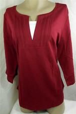 Catherines Womens Plus Size Shirt Top Burgundy Blouse Size 2X 5X New