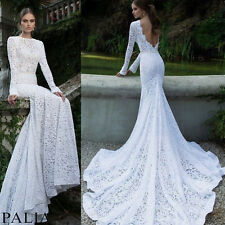 Elegant Lady's Lace Backless Evening Wedding Long Prom Gown Bodycon Dresses Hot