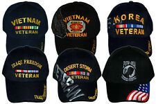 American Military US War Veteran Baseball Hat Black Ball Cap USA United States