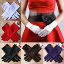7 Colors Evening Party Wedding Formal Prom Stretch Satin Gloves for Women Ladies