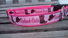 Redneck Cutie Dog Collar,Redneck Dog Collar,Red Neck Dog Collar, Red Neck Collar