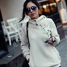 Women Long Sleeve Casual Pullover Hoodie Jacket Sweater Coat Hooded Jumper Tops
