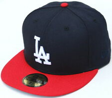 MLB Los Angeles Dodgers 2 Tone Navy Blue/Red LA New Era 59Fifty Fitted Hat