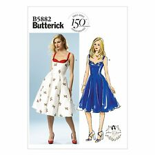 Butterick 5882 Patterns by Gertie 50s Summer Dress Vintage Prom NEW Retro B5882