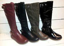 Ladies Heavenly Feet Berry3 Knee High Boots