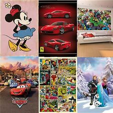 Large WALLPAPER WALL MURAL home decor DISNEY girls & boys room poster xmas gift