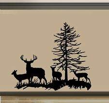 Deer Family, Buck, Doe, and two Fawns ~ Wall Decal