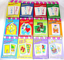 Educational & Game Cards - Math, Games, Abc, Colors, Shapes, 1 2 3 Choice of 1