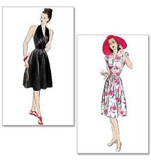 Retro Butterick 5209 40s 50s Halter Neck Cap Sleeve Dress NEW Sewing Pattern