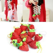 Foldable Strawberry Reusable&Recycle Carrier Tote Bag Shopping Bags 1/5/10/ Lot
