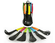 Kitchen Cooking Utensil 7 PC Spatula Spoons Carousel Set Tool  W/ Stand Tool