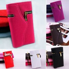 "PU Leather Hybrid Flip Wallet Purse Case Cover For iPhone 6 4.7"" & Plus 5.5"""