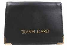 NEW SOFT LEATHER TRAVEL OYSTER CARD BUS PASS HOLDER IN VARIOUS COLOURS 1496