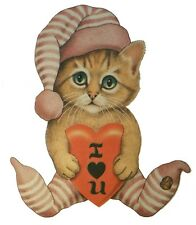 I Love You Shirt,  Kitty Cat with Heart & dreamy eyes, Valentines Day, Sm - 5X