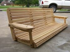 6' Cypress Porch Swing Wood Wooden Outdoor Furniture Swings