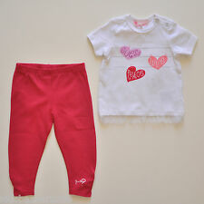 Guess Baby Girls 2-Piece Set White Tulle Tee Pink Pants Size 0-3m/3-6m/6-9m/12m