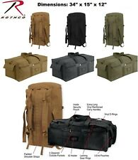 BLACK or OD GREEN Military Mossad Double Shoulder Strap Carry Duffle Bag  8136