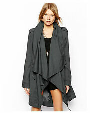 ♥ ASOS Drape Front Parka in Khaki And Grey ♥ Size 8 ♥