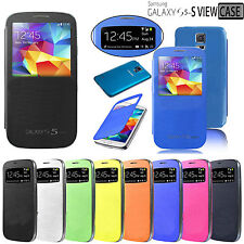 NEW S-VIEW SLIM FLIP CASE BATTERY BACK COVER FOR SAMSUNG GALAXY S5 Mini SM-G800F