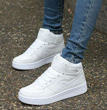 Mens Womens High Top cool Lace Up Skateboarding Athletic Sneaker Boot Shoes