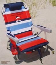 Tommy Bahama 2015 Backpack Cooler Beach Chair with Storage Pouch & Towel Bar