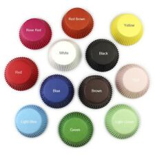100 x Round Cupcake/Liner Muffin Cases Baking Paper Cups Various Colours