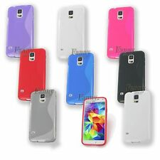 For Samsung Galaxy S5 LTE-A G906S G900 Gel TPU Skin Case Cover +Screen Protector