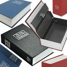 Novelty Secret Dictionary Book Safe Key Metal Lock Box Money Cash Jewellery