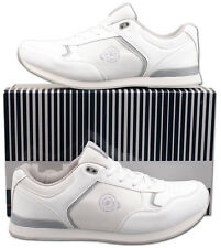 Mens New White Lace Up Bowls Bowling Trainer Style Shoes Size 6 7 8 9 10 11 12