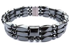 Men's Women's Powerful 100% Magnetic Hematite FACETED Bracelet Anklet 3 Row