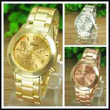 Fashion Geneva Luxury Alloy Analog Quartz Girl Women Ladies Wrist Watch