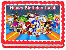 SONIC THE HEDGEHOG Party Edible image Cake topper decoration