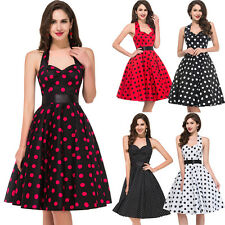 Vtg 8 Stlye Rockabilly Polka Dot Retro Swing 50s 60s pinup Housewife Party Dress