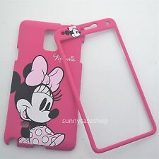 Cute cartoon pink minnie mouse front back case cover for samsung galaxyS5 note4