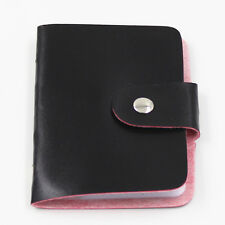 Unisex Pu Leather Pocket Business Credit ID Card Holder Wallet for 24 Cards T4