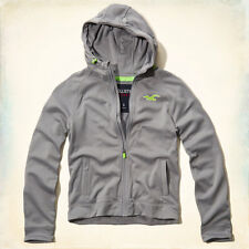 NWT Hollister by Abe & Fitch Mens Hollister Sport Full-Zip Jacket Light Grey- XL