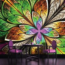 PHOTO WALL MURAL WALLPAPER WALLCOVER HOME DECOR COLORFUL LEAVES ABSTRACT 646VE