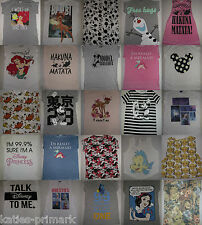 LADIES PRIMARK DISNEY /  PRINCESS T SHIRT TEE TOP 6 - 20 NEW