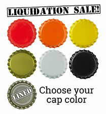 1,000 NEW Bottle Caps for Brewing Homebrewing Lined Crowns Liquidation Sale