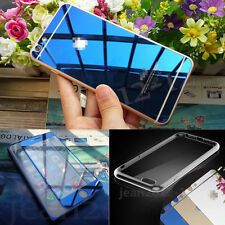 Front+ Back Mirror Effect Tempered Glass Screen Protector+Free Case Cover #AUD